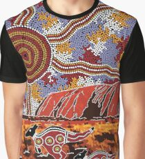 Uluru | Ayers Rock - Authentic Aboriginal Arts Graphic T-Shirt