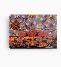 Uluru | Ayers Rock - Authentic Aboriginal Arts Metal Print