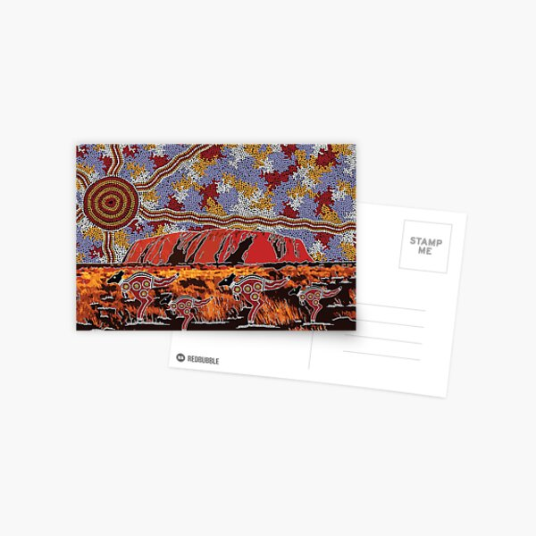 Uluru | Ayers Rock - Authentic Aboriginal Arts Postcard