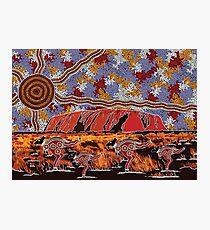 Uluru | Ayers Rock - Authentic Aboriginal Arts Photographic Print