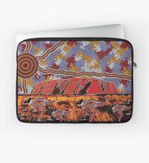 Uluru | Ayers Rock - Authentische eingeborene Künste Laptoptasche
