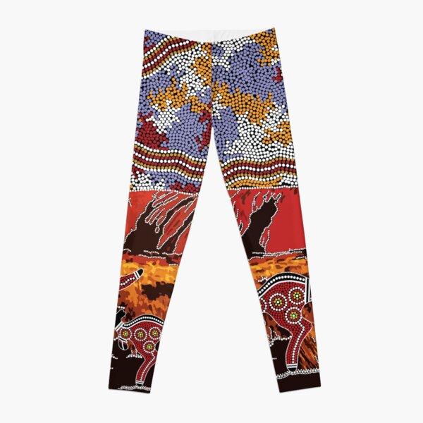 Authentic Aboriginal Art - Uluru | Ayers Rock Leggings