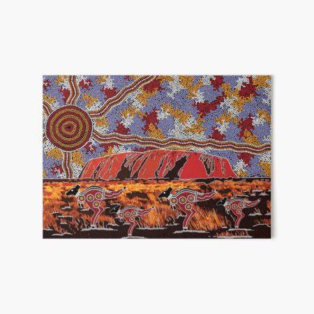 Authentic Aboriginal Art - Uluru | Ayers Rock Art Board Print