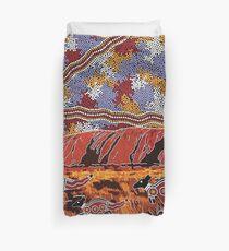 Uluru | Ayers Rock - Authentische eingeborene Künste Bettbezug