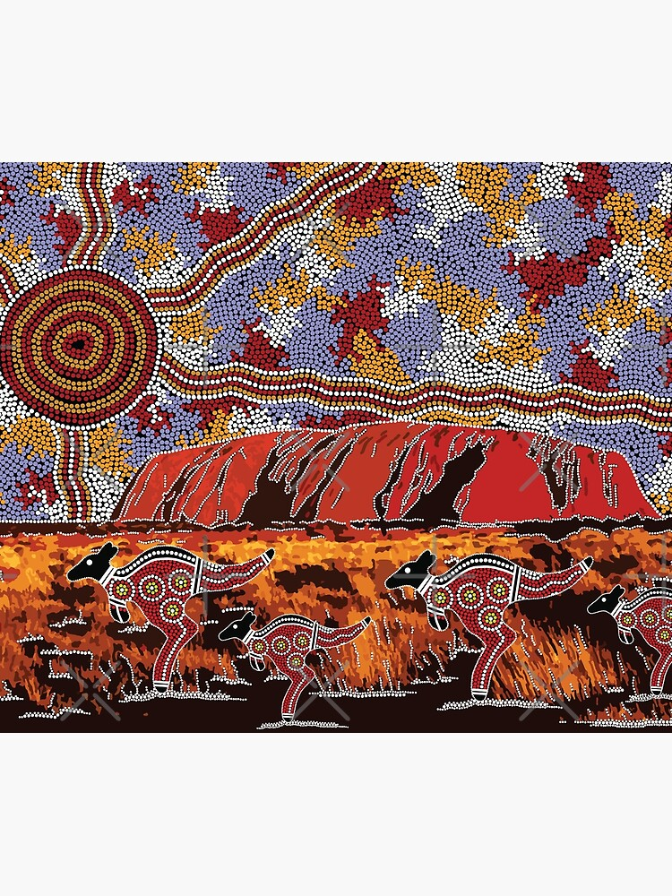 Authentic Aboriginal Art - Uluru | Ayers Rock by HogarthArts