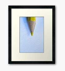 Yellow Pencil Framed Print
