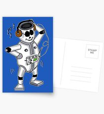 retro robot -the groover t-shirt Postcards