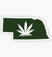 Marijuana Leaf Nebraska Sticker