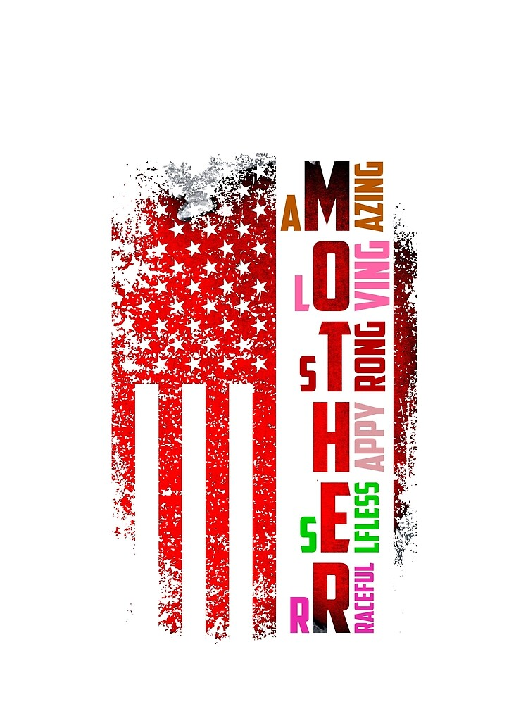 Retro Flag american flag mother's day by bestdesign4u