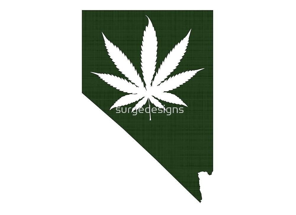 Marijuana Leaf Nevada by surgedesigns