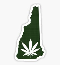 Marijuana Leaf New Hampshire Sticker