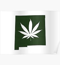 Marijuana Leaf New Mexico Poster