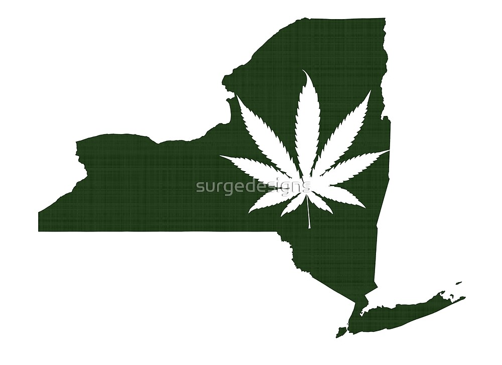 Marijuana Leaf New York by surgedesigns
