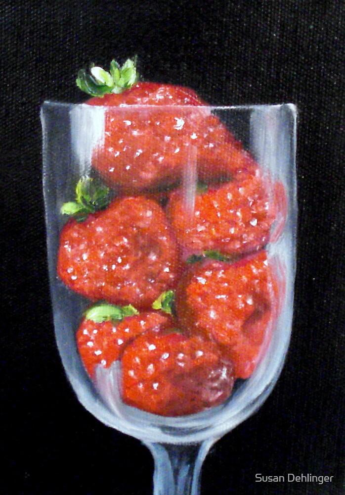 """""""Strawberries in Goblet"""" by Susan Dehlinger"""