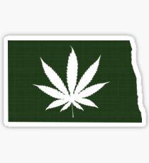 Marijuana Leaf North Dakota Sticker