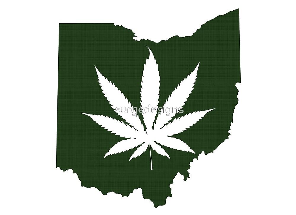Marijuana Leaf Ohio by surgedesigns