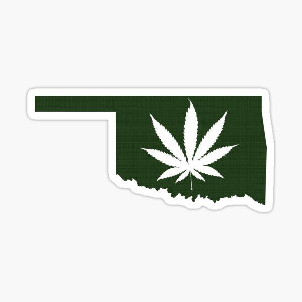 Marijuana Leaf Oklahoma Sticker
