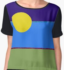 Abstract Landscape sunrise  Chiffon Top