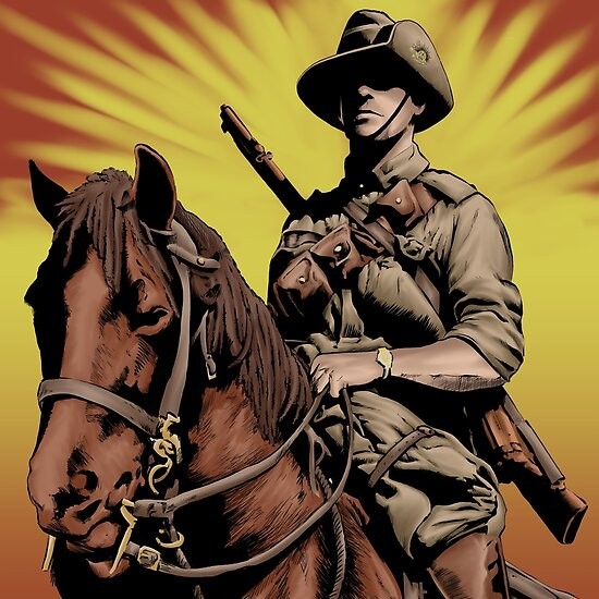 ANZAC- Austrlian Light Horse by Colin Wells
