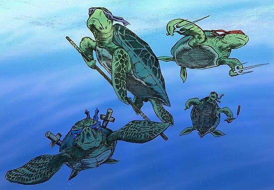Real Ninja Turtles by Colin Wells