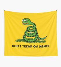 Treten Sie nicht auf Meme Wandbehang