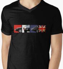 E-Type British Motoring Icon Men's V-Neck T-Shirt
