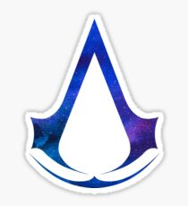 Assassins Creed Logo - Galaxy [blue] Sticker