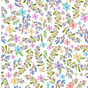 Twigs and floral pattern by ECoelfen