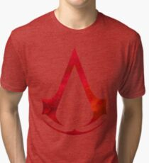 Assassins Creed Logo - Galaxy [red] Tri-blend T-Shirt