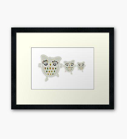 Eco Friendly Owl Family Hootenanny Framed Print