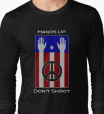 Hands Up, Don't Shoot (with Flag) T-Shirt