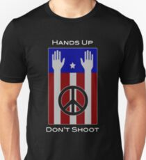 Hands Up, Don't Shoot (with Flag) Unisex T-Shirt