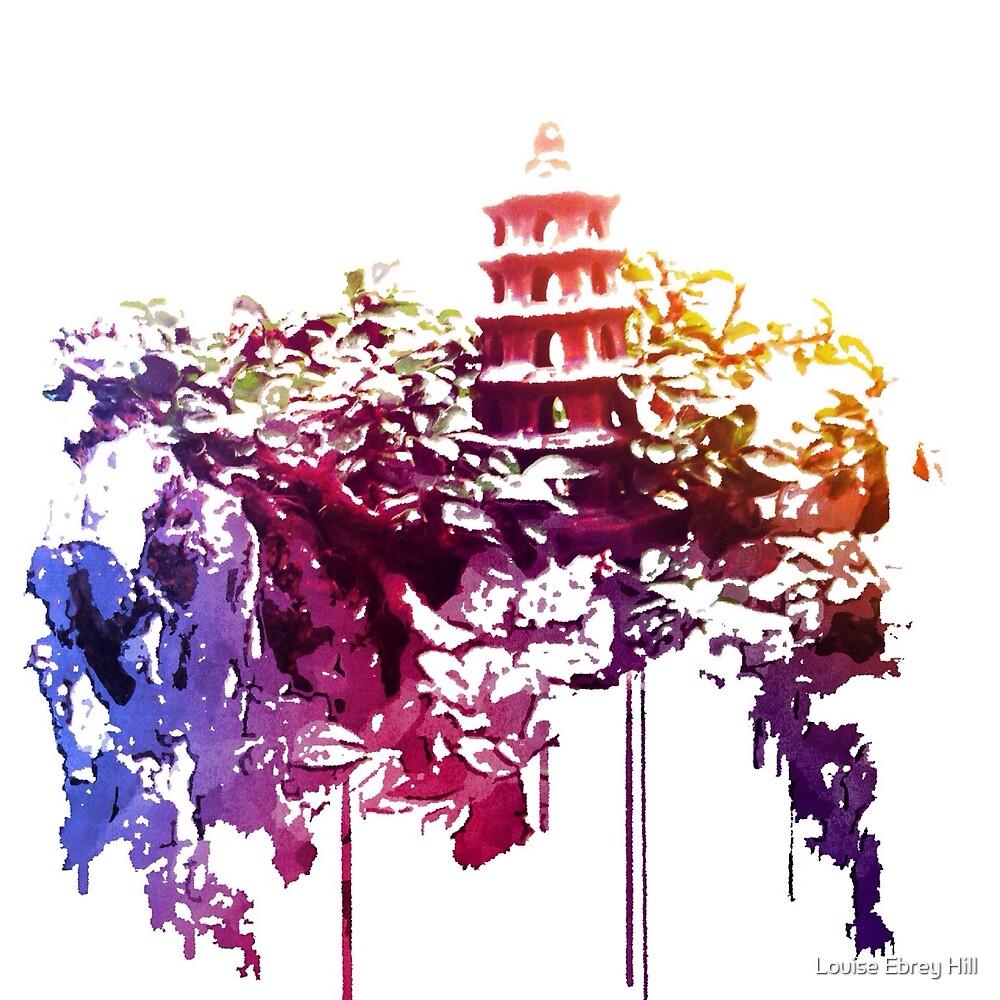 Tower in the Bonsai garden 1 by Louise Ebrey Hill
