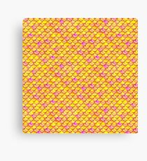 Yellow Pink Scales Canvas Print