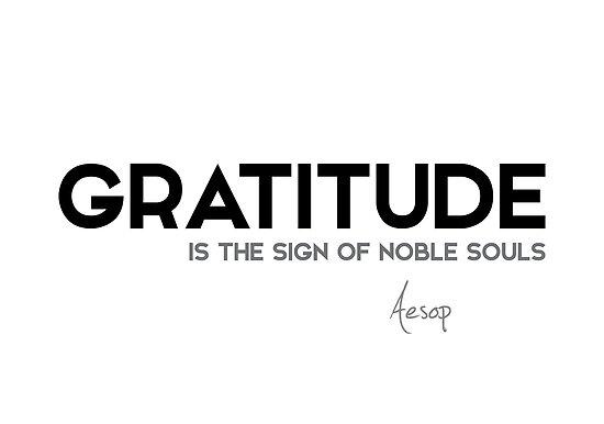 gratitude, noble souls - aesop by razvandrc