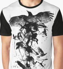 Schwarze Krähe Grafik T-Shirt