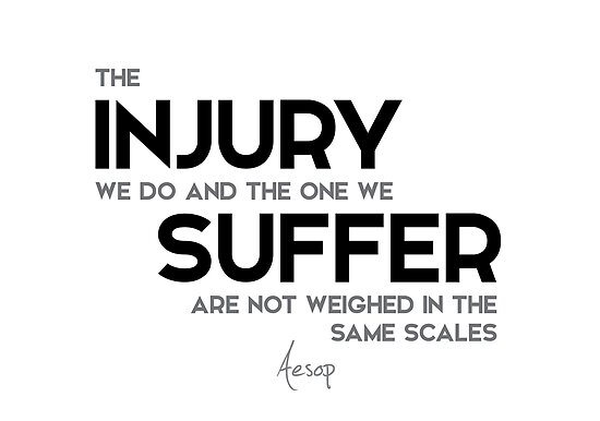 injury, suffer, same scales - aesop by razvandrc