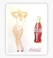 Coca-Cola Pin-Up Girl Sticker