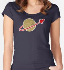 Retro  Lego Space Logo Women's Fitted Scoop T-Shirt