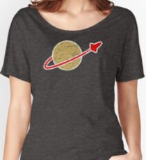 Retro  Lego Space Logo Women's Relaxed Fit T-Shirt