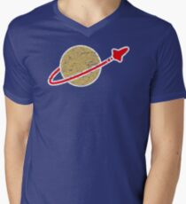 Retro  Lego Space Logo Men's V-Neck T-Shirt