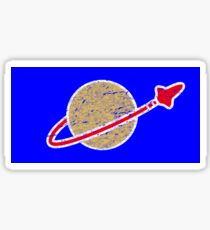 Retro  Lego Space Logo Sticker