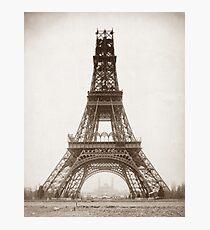 Eiffel Tower Under Construction - 1888 Photographic Print