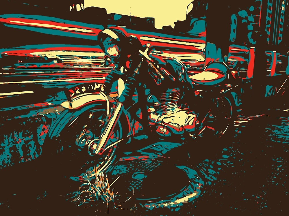 Retro Cafe Racer by Brendan Arthur Ring