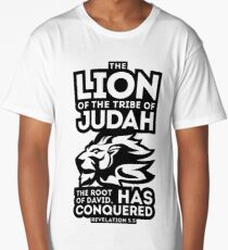 The Lion of the tribe of Judah, the Root of David, has triumphed. Long T-Shirt