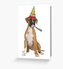 Boxer Birthday Greeting Card
