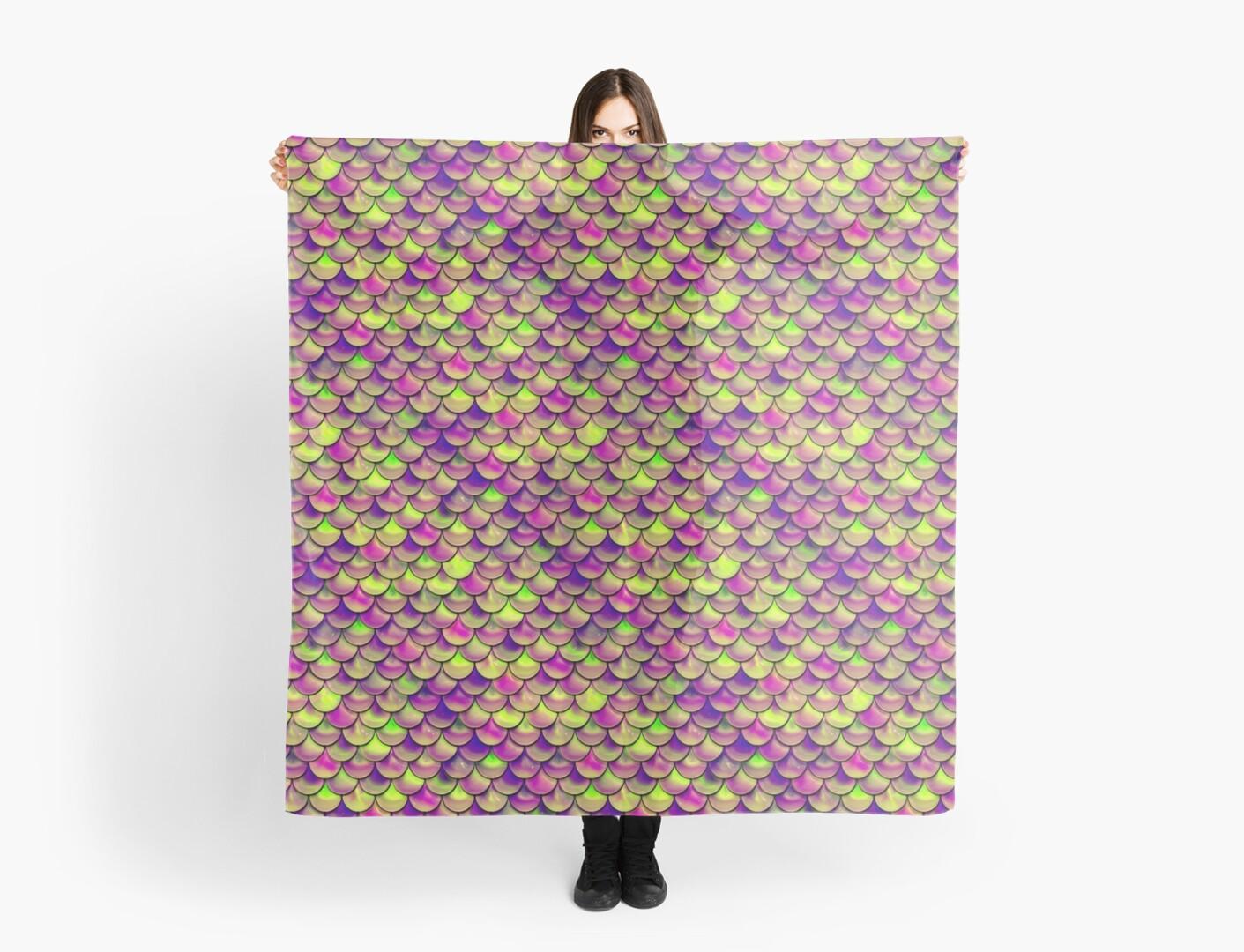 Purple Green Scales by Falln