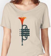 Trumpet Flower Women's Relaxed Fit T-Shirt