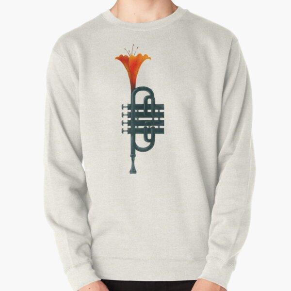 Trumpet Flower Pullover Sweatshirt