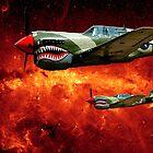 War Birds In Space by Larry Costales